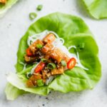 sweet chili vegan lettuce wraps