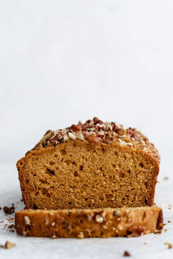 healthy maple pumpkin bread