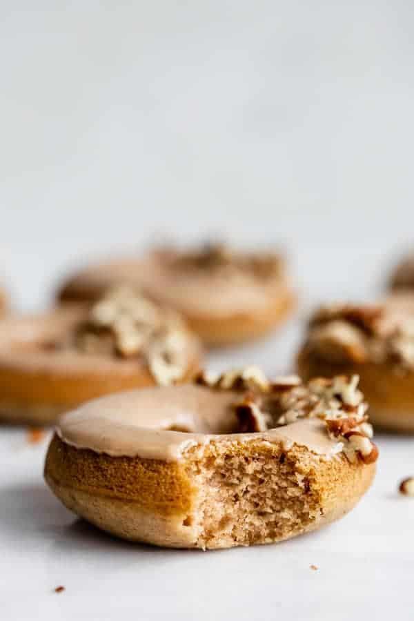vegan chia latte donuts with maple glaze