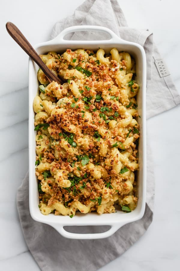 vegan jalapeno popper mac and cheese