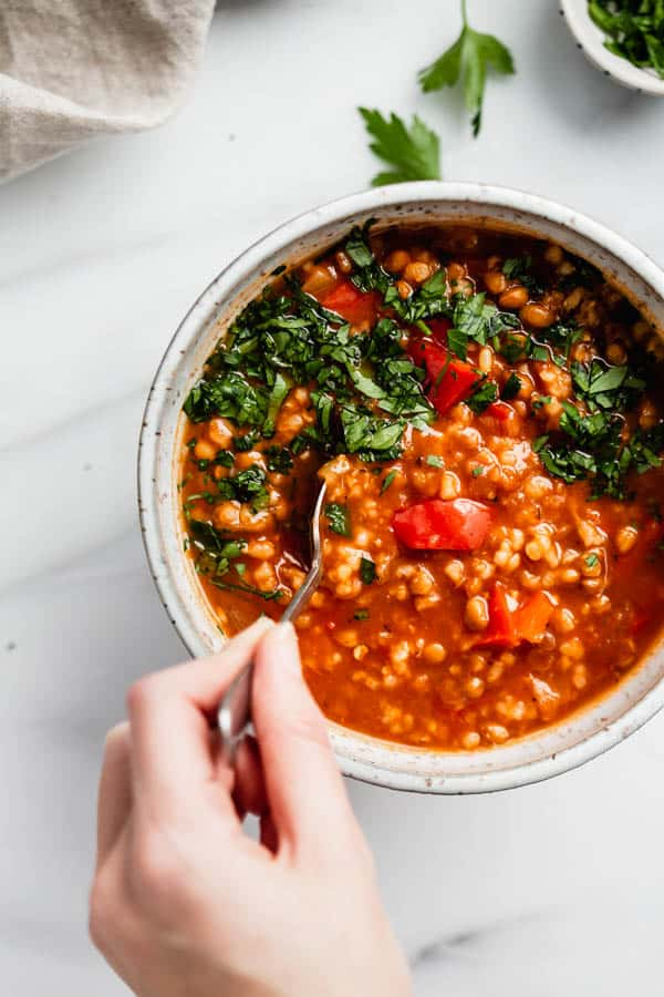 vegan stuffed pepper soup