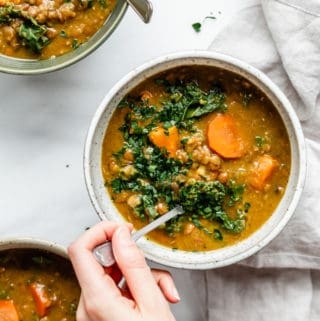 weeknight slow cooker lentil soup