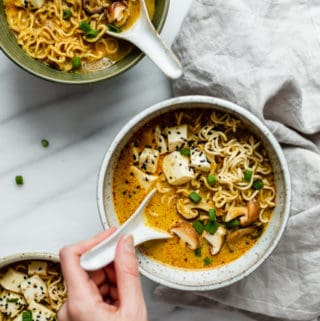 Spicy Thai vegan ramen 1