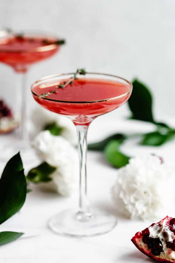 pomegranate kombucha mimosa