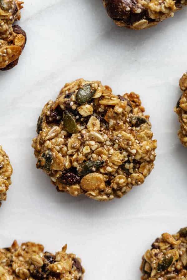 breakfast cookies on a marble board