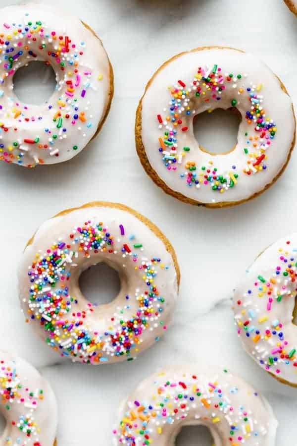 vegan cake batter donuts