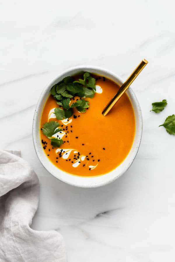 Thai carrot ginger soup