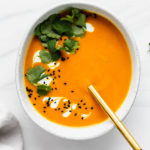 Thai carrot ginger soup
