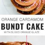 an orange cardamom bundt cake