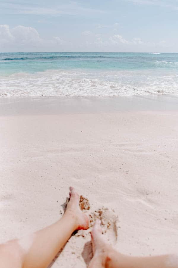 the beach in tulum