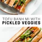 Tofu banh mi sandiwch