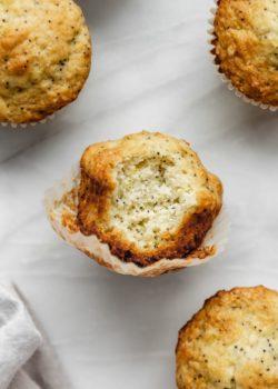 healthy lemon poppy seed muffins
