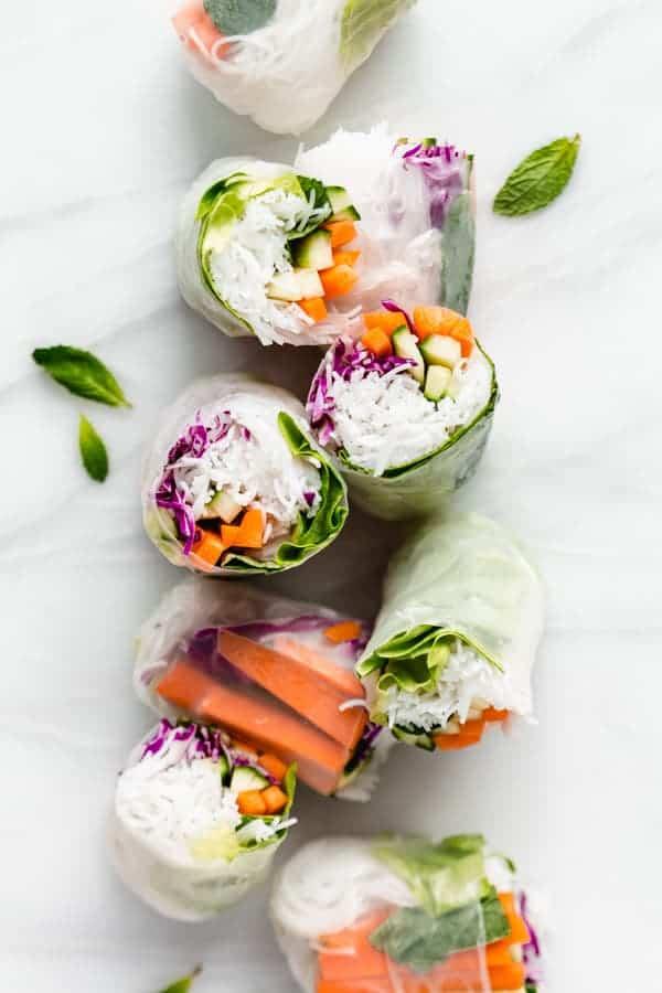 Vietnamese Fresh Spring Rolls Choosing Chia