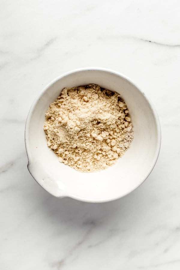 a bowl of almond flour