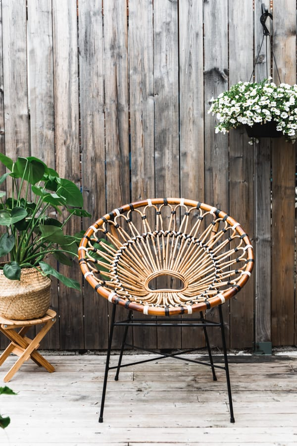 a bohemian patio chair