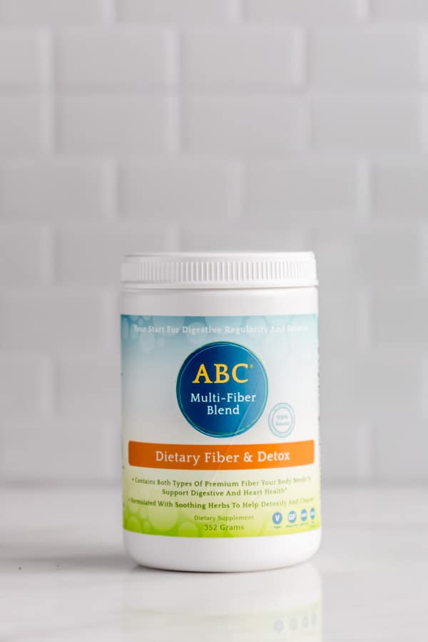a bottle of ABC mult-fiber blend