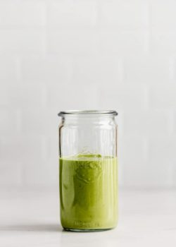 Green Goddess Dressing in a jar