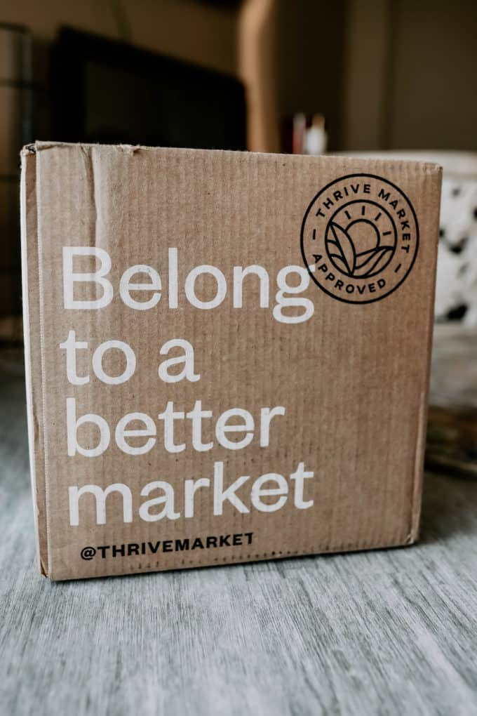 A thrive market delivery box